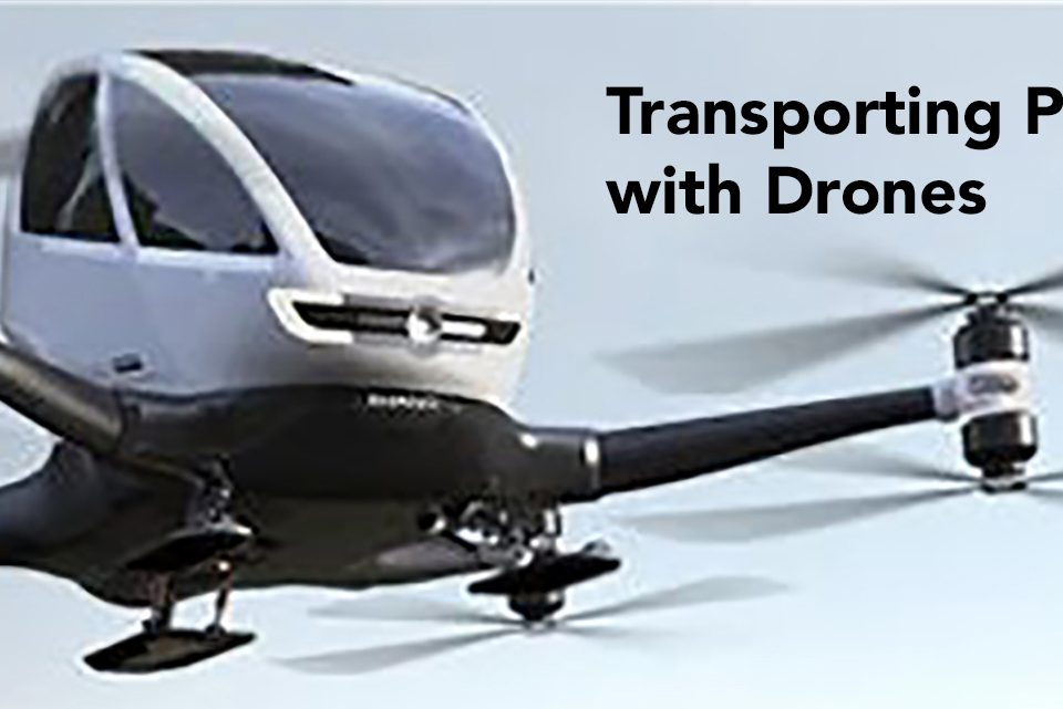 Transporting People with Drones ... Drone Ranger Australia